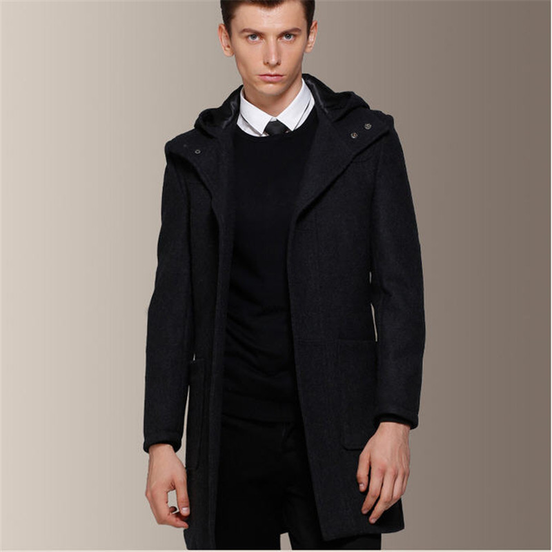 Popular Mens Wool Coat Hood-Buy Cheap Mens Wool Coat Hood lots