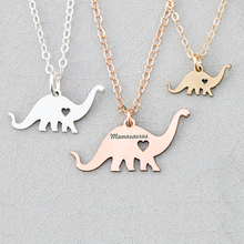 Dinosaur Necklace Cute Animal Charm Child Necklaces Personalized Names Or Letters Boys Favorite  YP6030