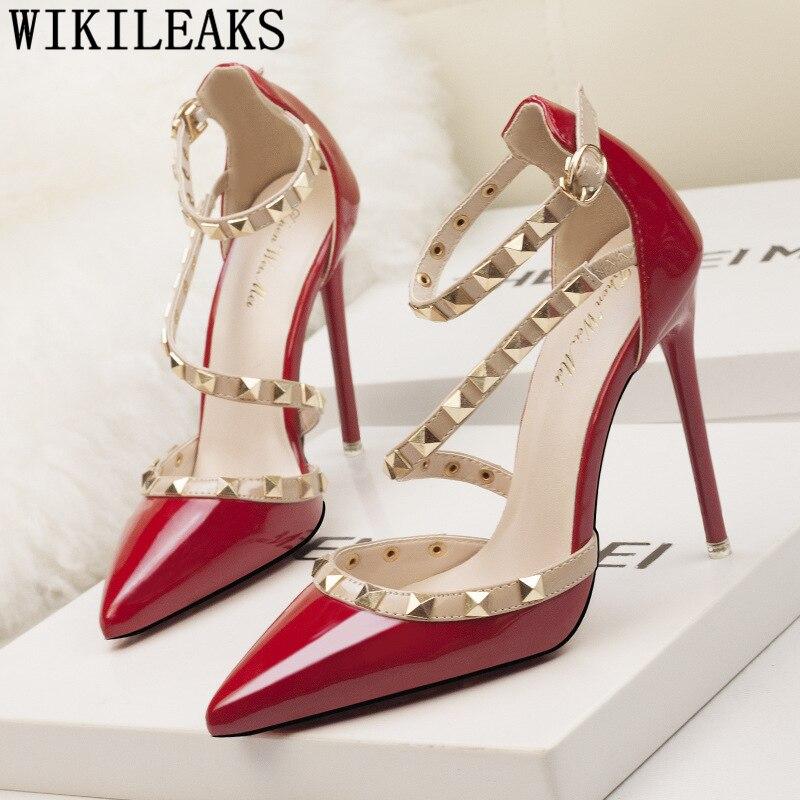 para mujeres remache tacón 2 jane 5 stiletto mary boda zapatos alto