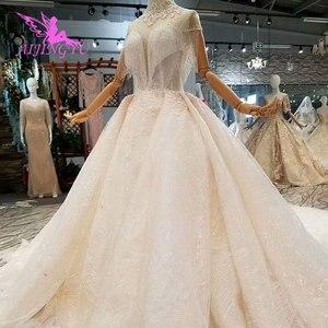Image 5 - Aijingyu rendas vestidos de casamento vestido de noiva personalizado branco vestidos loja online china vestido de casamento
