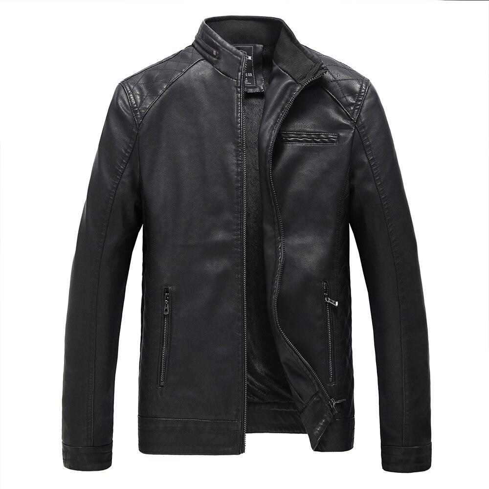 Leather jacket karachi - Jaqueta De Couro Masculina Men Leather Jacket Fur Coat Middle Aged Leather Pu Jacket Coat
