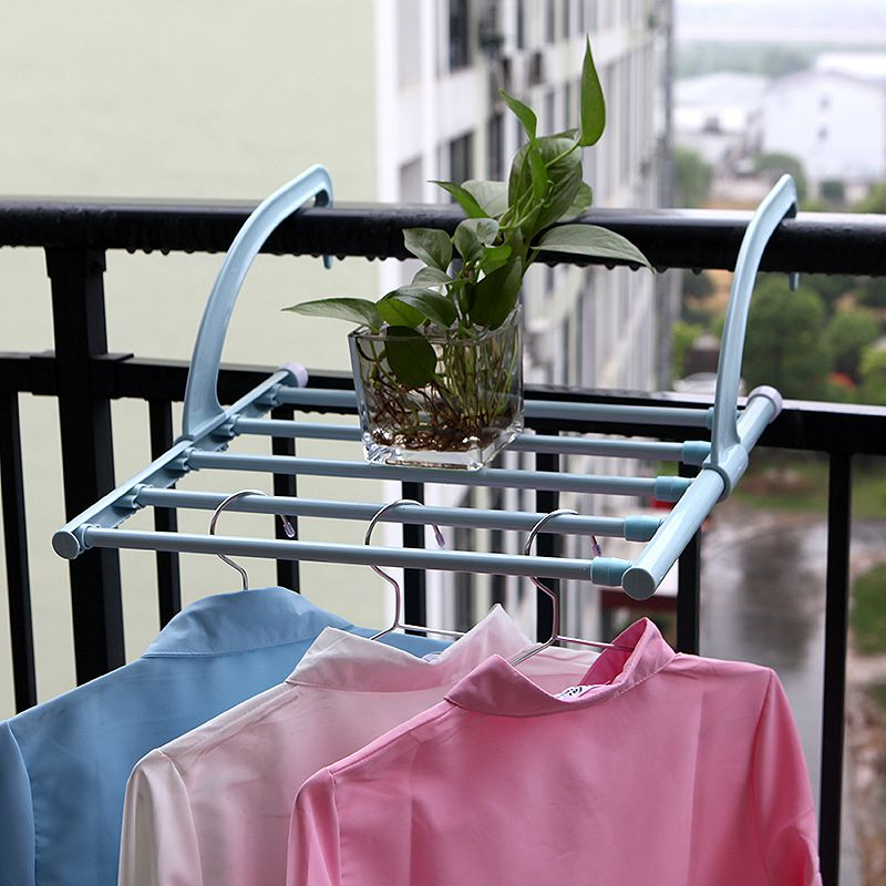 2017 New Hot Outdoor Folding Rack For Clothes Towel Dryer Rack Hanger Shelf Drying Storage Radiator Metal Hook Large Clip