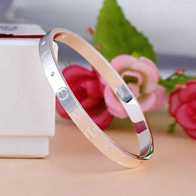 Hot Cuff Bracelets Bangles Gold Plated Brand Crystal Buckle Lover Bracelet For Women Men Indian Jewelry Pulseira Masculina H0009