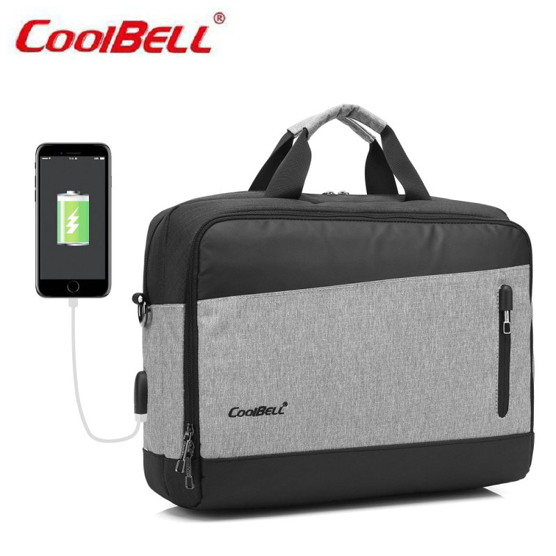 COOLBELL 2017 New Waterproof Crushproof 15.6 inch Notebook Computer Laptop Bag for Men Women Briefcase Shoulder Messenger Bag-FF