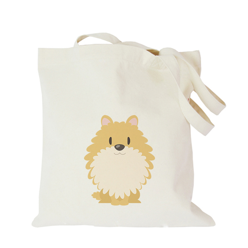 Pet dog series canvas bag custom tote bag customized eco bags custom made shopping bags with logo  Dachshund Shepherd Dog Poodle (8)