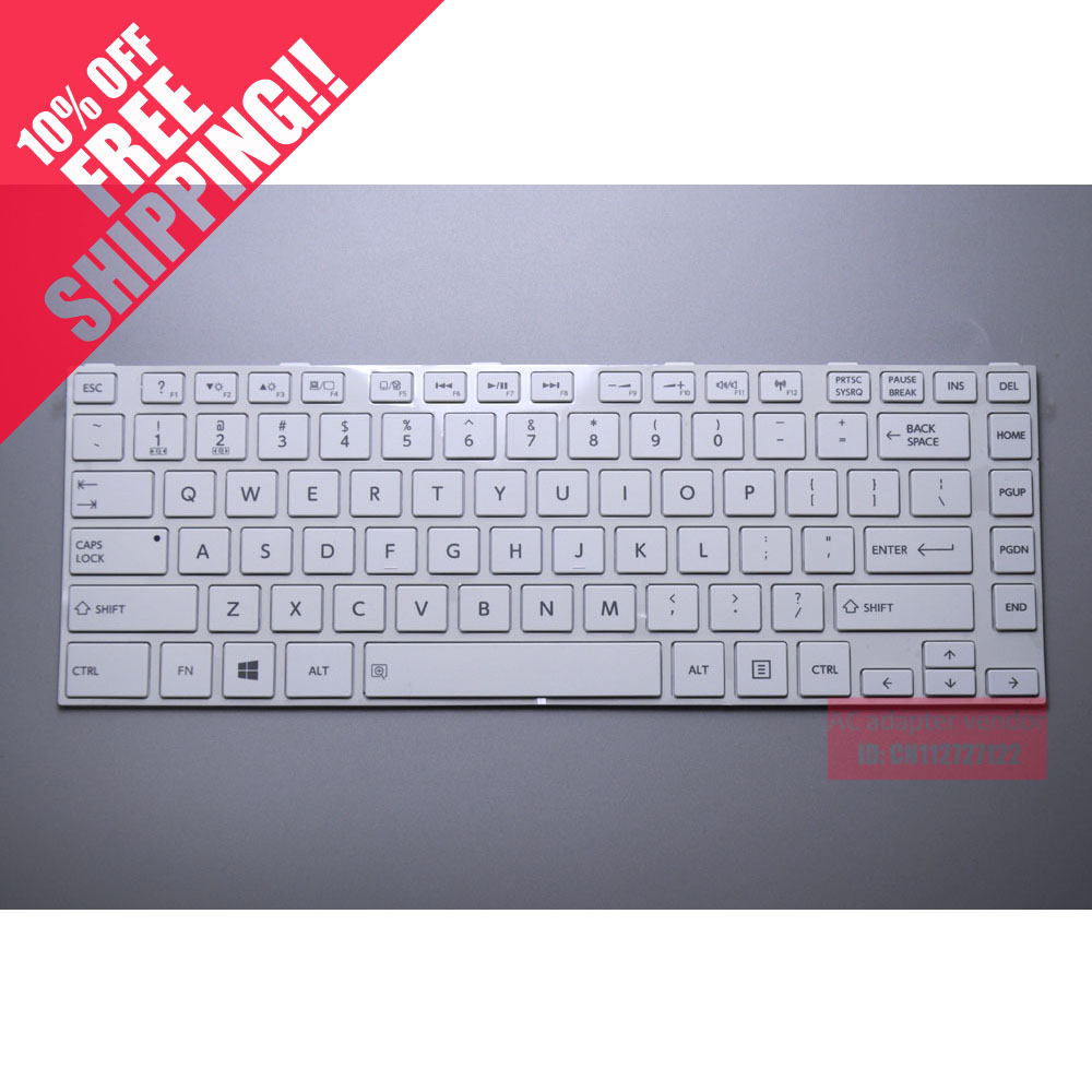FOR <font><b>TOSHIBA</b></font> <font><b>L800</b></font> L805 L830 M800 C800 C805 C840D white laptop keyboard image