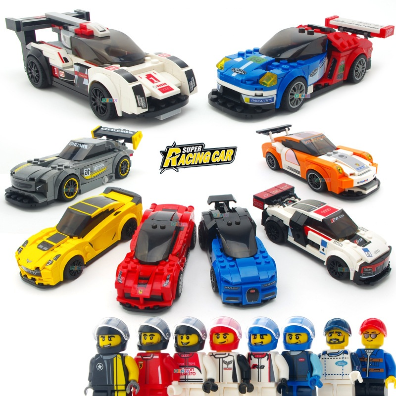 DG City Technic Super Racers Series Speed Champions Building Blocks Sets Kits Bricks Classic Model Kids Toys Compatible Legoings kazi 608pcs pirates armada flagship building blocks brinquedos caribbean warship sets the black pearl compatible with bricks