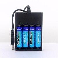 Kentli 140 шт. AA 1.5 В 3000mwh литий ионная аккумуляторная батарея + 15 шт. 4 каналов полимера литиевые батареи, зарядное устройство