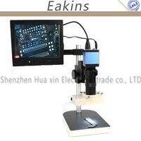 1080 P HDMI VGA цифровой индустрии видео микроскоп Камера комплект + 100x c-креплением + 56 светодиодный свет + 8