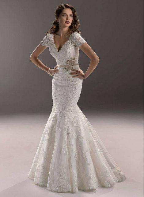 Pink Cheap Winter Wedding Dresses Real Sample Wedding Dress Mermaid ...