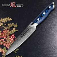 GRANDSHARP 5 Inch Utility Knife Damascus Kitchen Knife 67 Layers Japanese Damascus Stainless Steel VG-10 Cooking Tools Knives
