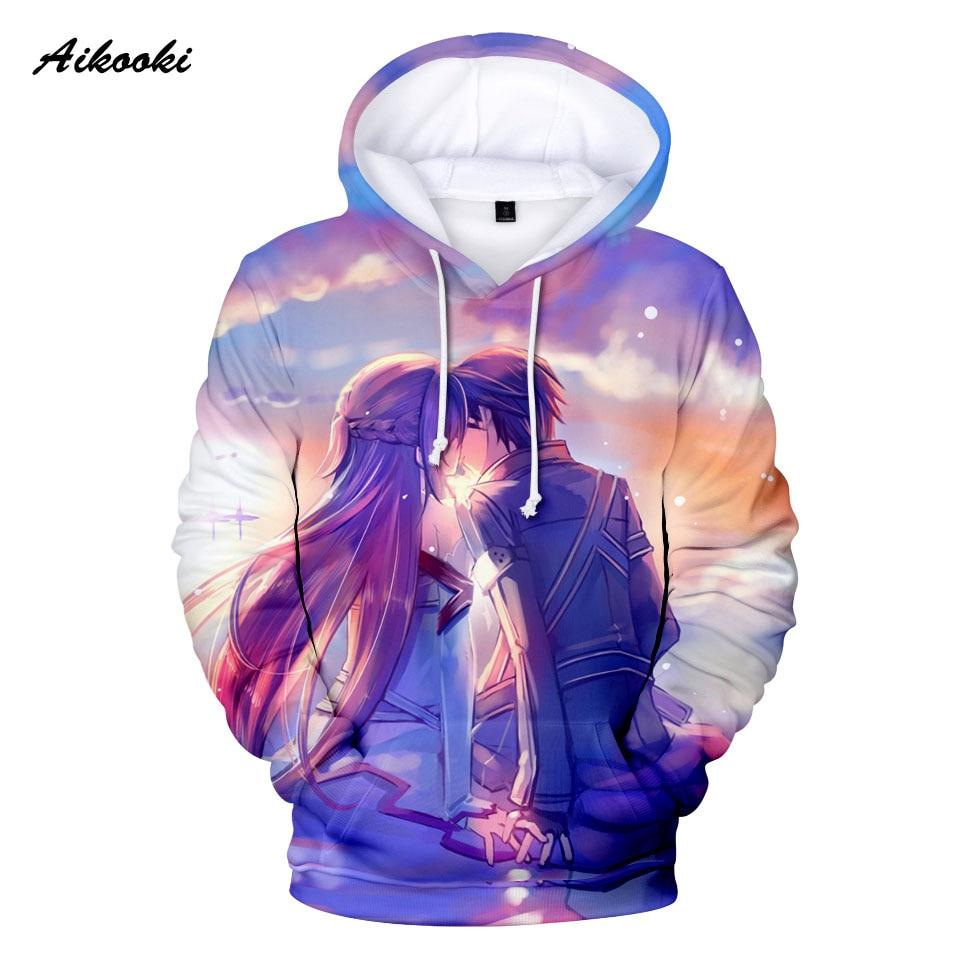 Aikooki Lover 3D Hoodies Men/Women Hoody Sweatshirts 3D Print Sweetheart Design Funny Hooded Boys/Girls Cotton Polluver Clothing