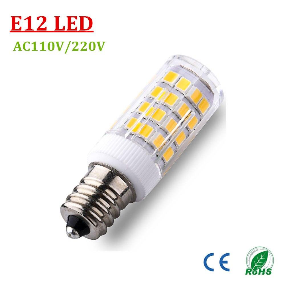 E12 Led Light Bulb: E12 E14 Base 51 LED Light Bulb Lamp 2835SMD 4W AC220V/110V