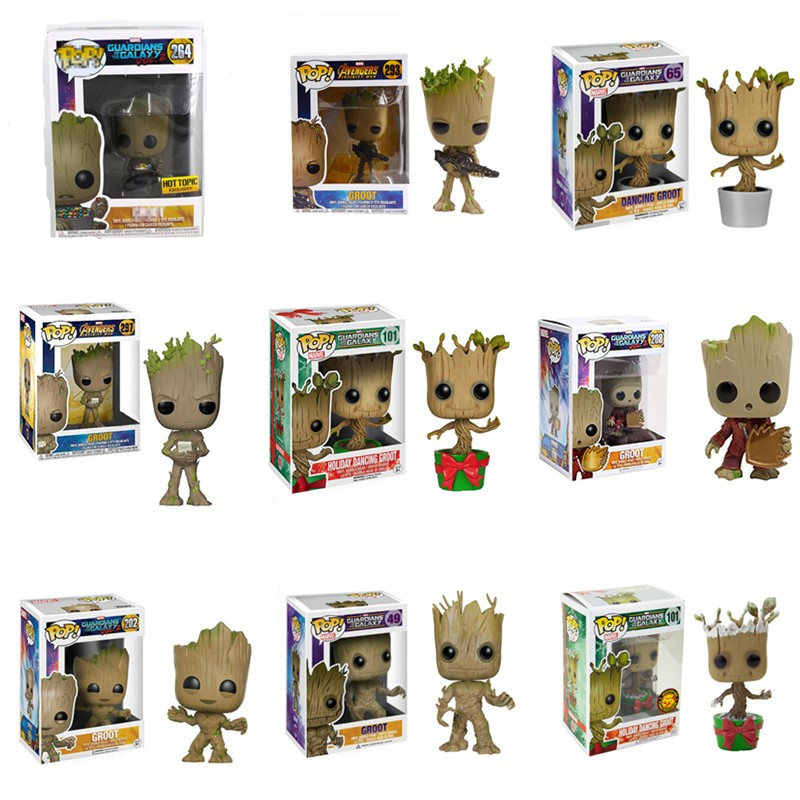 Funko pop Marvel guardiers of the Galaxy Grootted the Avengers3 groots brinquedos фигурка игрушки для детей Рождественский подарок