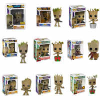 Funko POP Marvel Les Gardiens de la Galaxie Grootted la Avengers3 groots brinquedos Figurine jouets pour enfants Cadeau De Noël