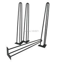 Free shipping 28 hairpin legs matte black set of 4 dining table steel legs, furniture legs, iron table legs