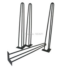 "Free shipping -28"" hairpin legs - matte black - set of 4 - dining table steel legs, furniture legs, iron table legs(China)"