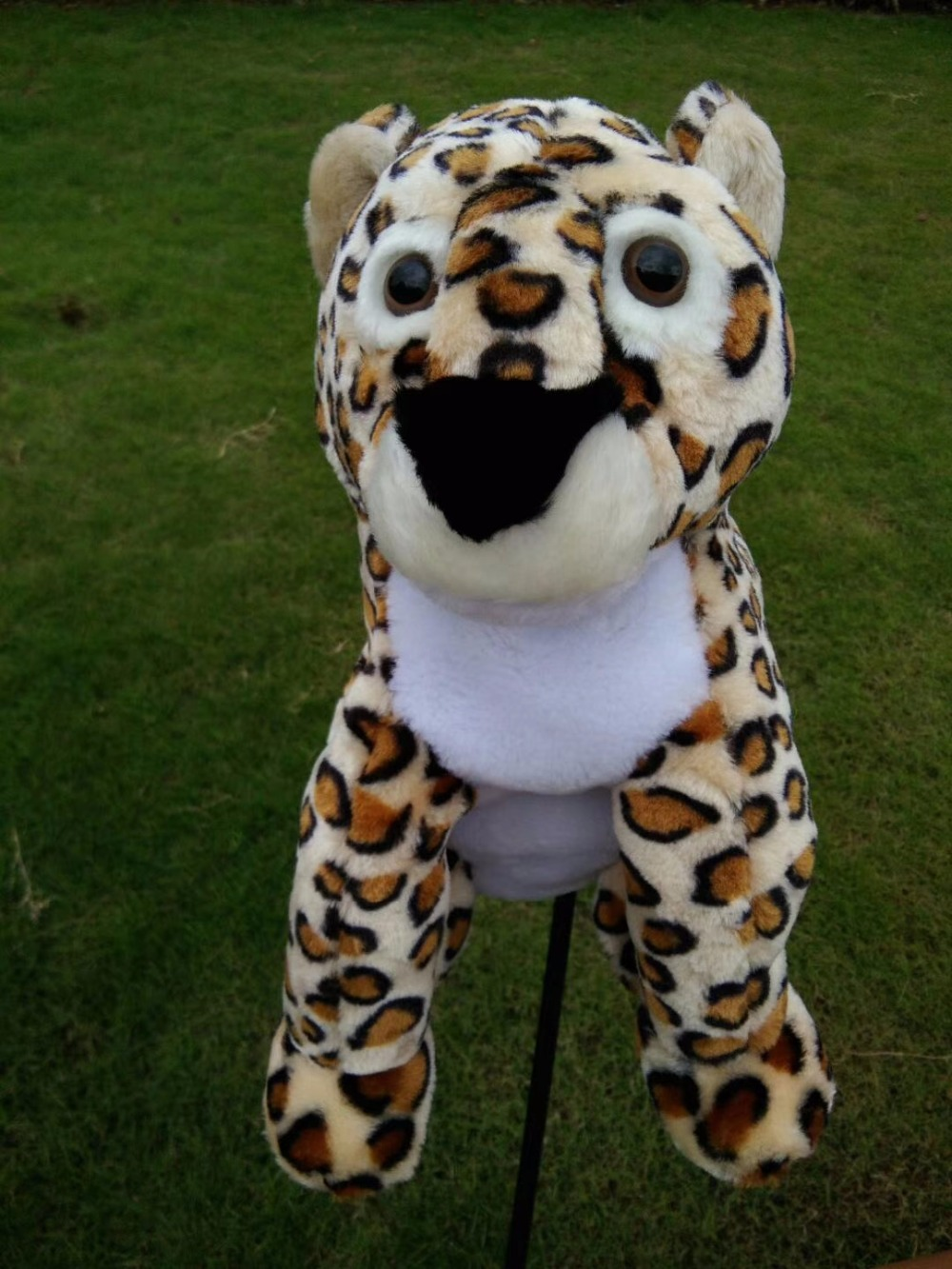 Leopard Plush Golf Driver Headcover Universal Cute Style Cartoon Animals Golf Club Protetive Cover High Quality