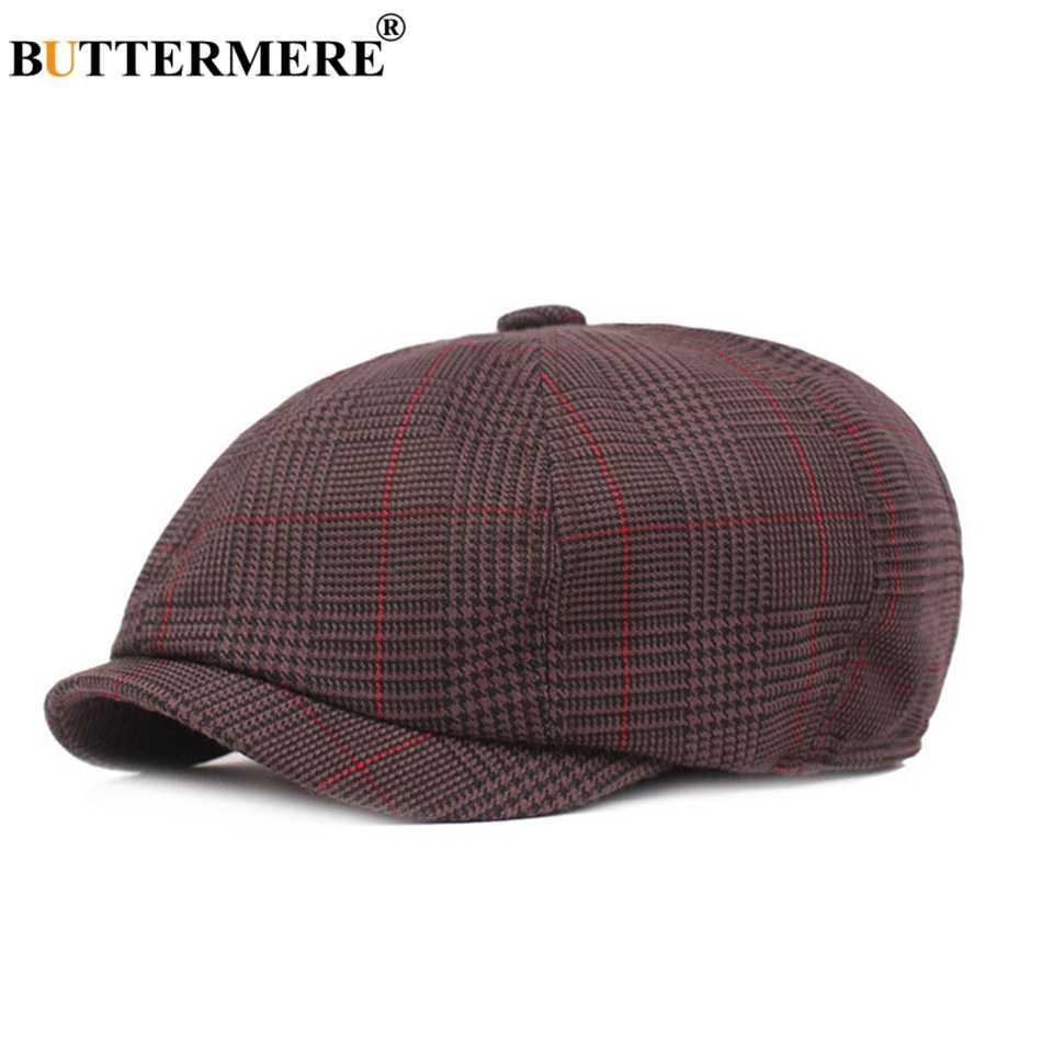 Восьмиугольная кепка BUTTERMERE для женщин и мужчин Клетчатая Кепка из 100% хлопка