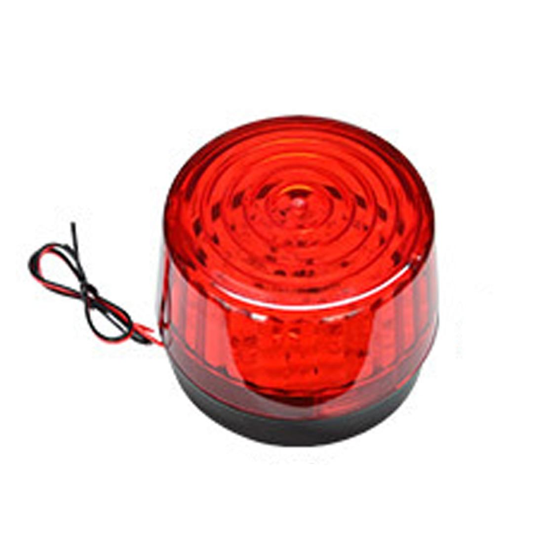 DC12V Mini Wired Strobe Siren Signal Warning Light Flash Siren LED Highlight Alarm Lamp for Car Security Alarm System