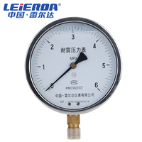 LEIERDA Vibration proof pressure gauge Aseismic oil filling pressure gauge shock proof oil filled pressure gauge YN 150