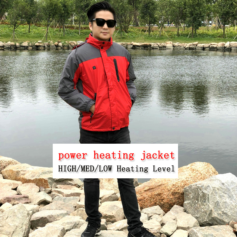 NEW USB POWER heated Jacket Winter Ski camping jackets Windproof Waterproof Thermal for women men jacket size s-xxxl 3 level men s knitted jacket