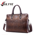 Brand New Genuine Leather Luxury  Men's Messenger Bags Classic  Crocodile Style Leather Shoulder Bags Mens Handbag Business Bag