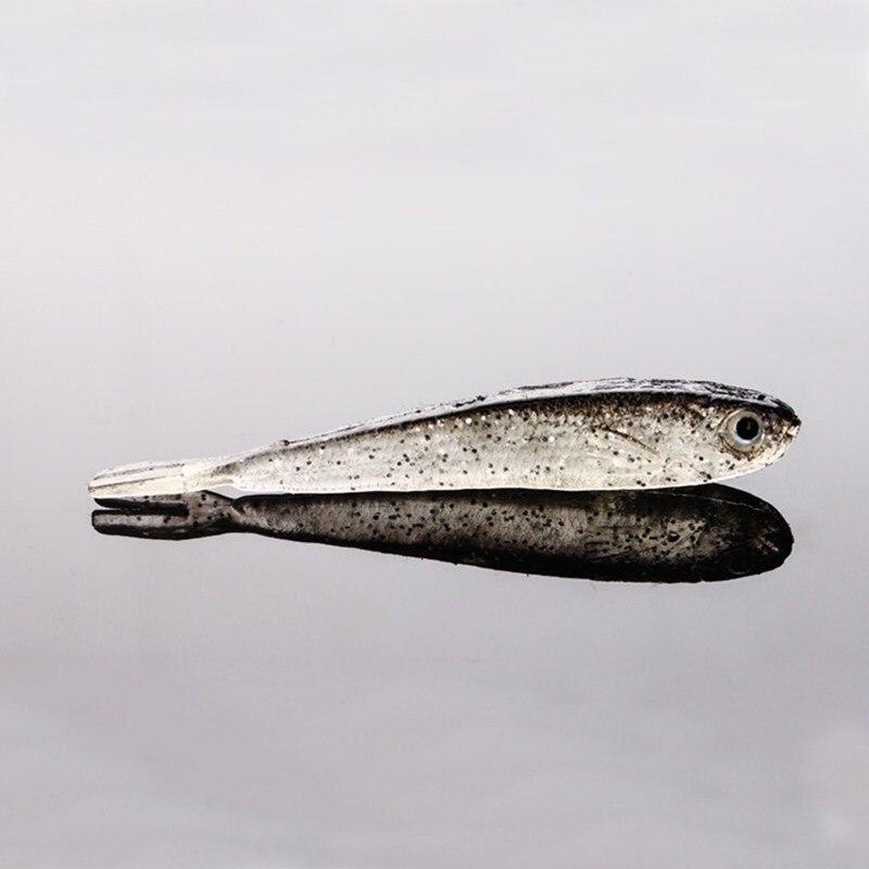 YeMuLang 7 CM 10Pcs / σετ Γκρι μαλακό σιλικόνης - Αλιεία - Φωτογραφία 6