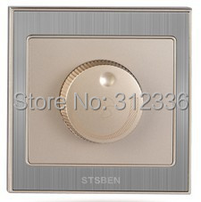 free shipping wall switch electric fan Speed modulator switch Speedregulator switch Speed control champagne gold color home electric fan part rotation button 4p spst speed control switch