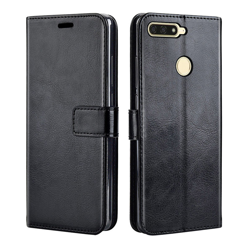Роскошный кожаный чехол-книжка для Huawei Y6 Prime 2018, чехол-накладка для телефона Huawei Y6Prime 2018
