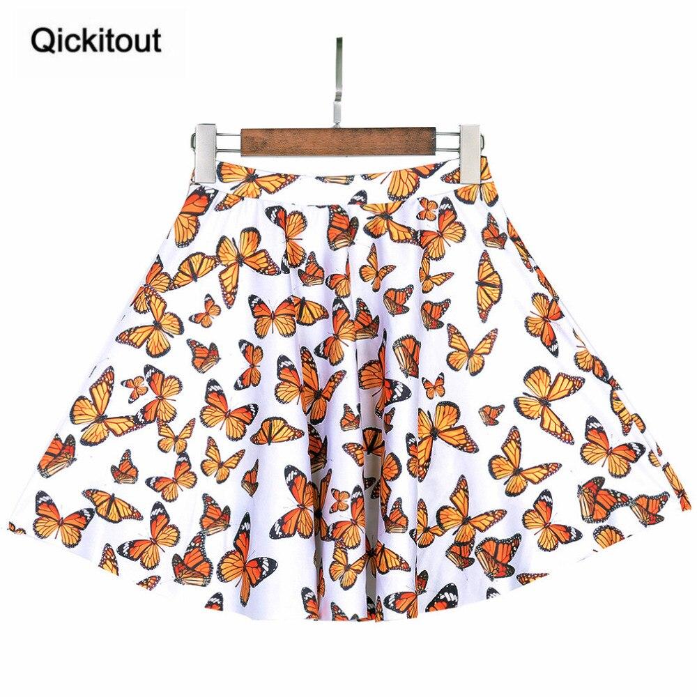 Hohe qualität Heißer Sommer Frauen Gefaltete Damen Schmetterlinge fliegen RÖCKE Über Dem Knie Elastische Saia De Renda RÖCKE Frauen RÖCKE