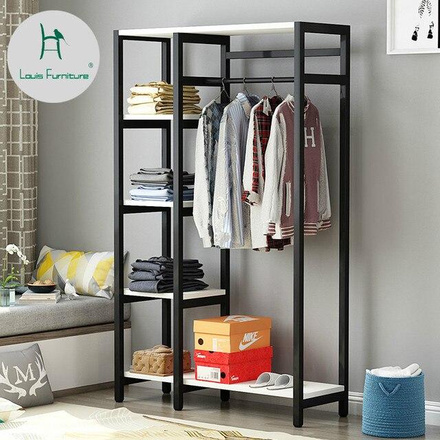louis fashion coat racks bedroom floor modern simple steel and wood rh aliexpress com creative clothes storage ideas creative clothes storage for small spaces