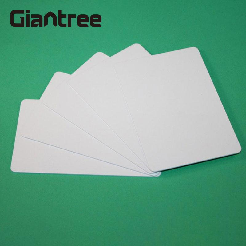 Giantree RFID Card 13.56MHZ White NFC Ntag215 Blank Card Read/Write 106M/S For Bus Phone Payment Security
