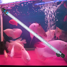 5050 SMD RGB Light Bar Fish Tank Aquarium Light IP68 Waterproof Submersible Pink Led Aquarium Lamp EU/UK Plug(China)