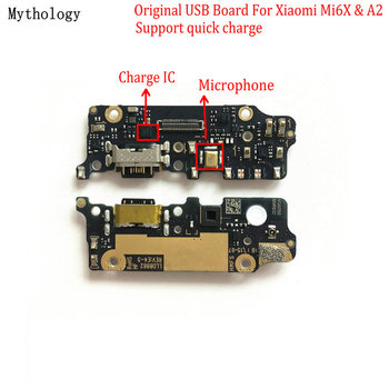 Mythology Original For Xiaomi Mi A2 6X USB Board Flex Cable Dock Connector Microphone Mobile Phone IC Support Quick Charger