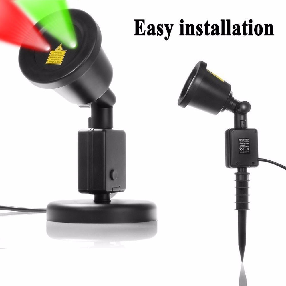 Christmas Outdoor Laser Lights Waterproof Projection Light Red and ...
