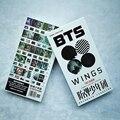 Youpop KPOP BTS Bangtan Boys Álbum Corea Moda ALAS de Un 30 Foto Tarjetas postales 30 Pequeño 120 Pegatinas K-POP Compartir Tarjetas Postales