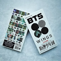 Youpop KPOP Korean Fashion BTS Bangtan Boys Album WINGS A 30 Postcards 30 Small 120 Stickers K-POP Photo Cards Share Post Cards