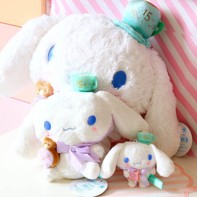 candice guo! super cute plush toy cartoon Cinnamoroll 15th Anniversary pendant doll bowknot dog girls birthday gift 1pc candice guo super q cartoon chubby hamster squirrel plush toy doll backpack shoulder bag birthday gift 1pc