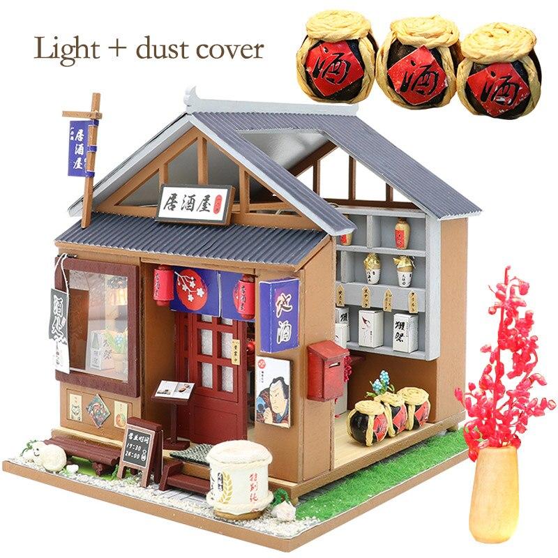 GIFT New Japanese Shop Dollhouse Miniature DIY Kit doll house