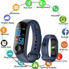 M3 мужские смарт-браслет Цвет Экран крови Давление Фитнес трекер монитор сердечного ритма Смарт фитнес-браслет для IOS и Android