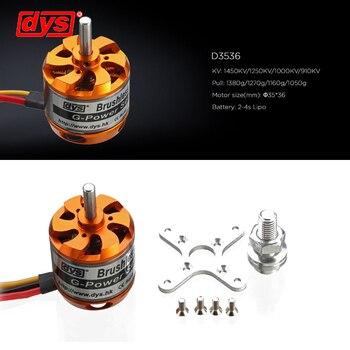 DYS D3536 910KV/1000KV/1250KV/1450KV 2-4S Motor sin escobillas para Multirotor RC modelos Juguetes