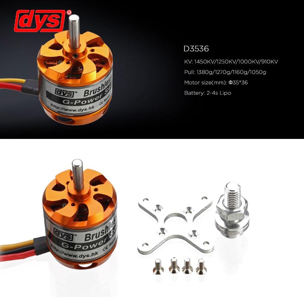 DYS D3536 910KV/1000KV/1250KV/1450KV 2-4 S Motor Brushless para Multirotor de los modelos de RC Juguetes
