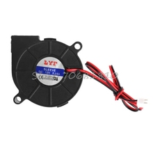 50mmx15mm DC 12V 0.14A 2-Pin Computer PC Sleeve-Bearing Blower Cooling Fan 5015 #K400Y# DropShip