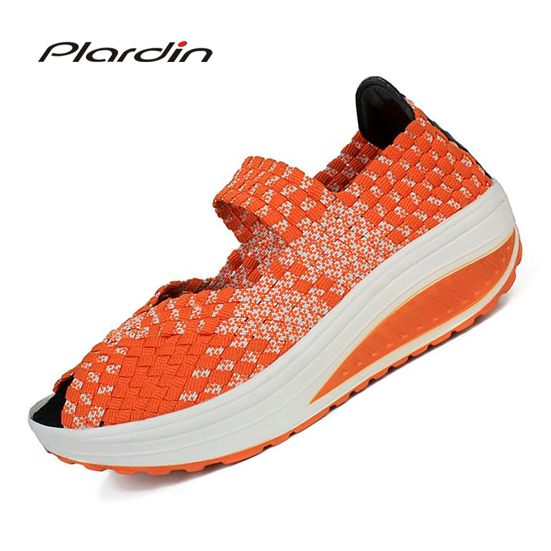 plardin 2017 Summer Wedges women's Sandals Shoes For women Woven shoes Colorful Breathable Beach Sandals Jelly Shoes Woman phyanic 2017 gladiator sandals gold silver shoes woman summer platform wedges glitters creepers casual women shoes phy3323