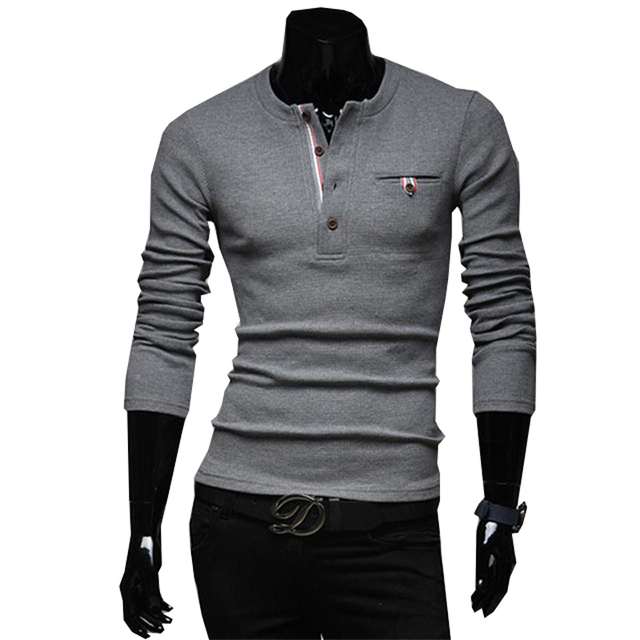 2016 Free shipping new male models. Harmonia placket splicing men's casual sweaters