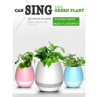 Smart Touch Flower Pot Wireless Bluetooth Speaker Plant Flowerpot Piano Music Stereo Sound Speakers Home Garden