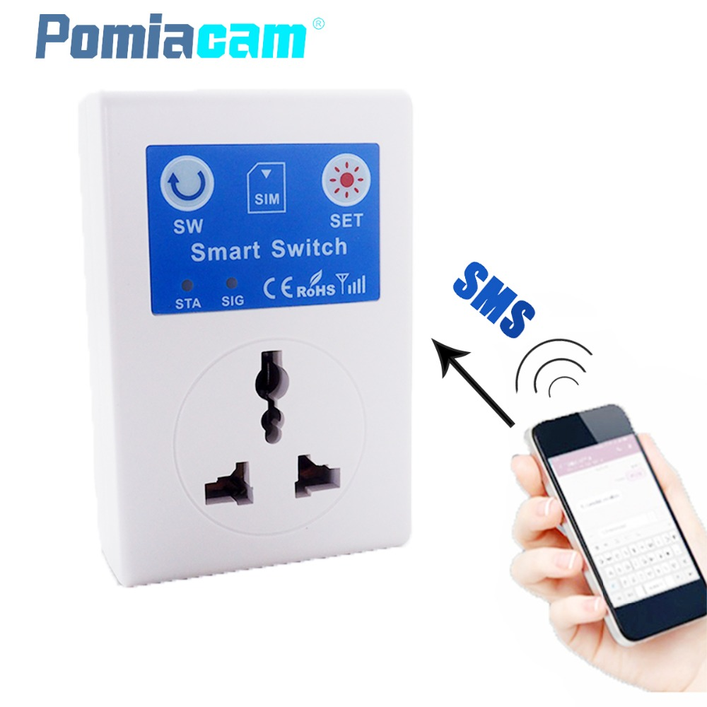 SC1 220V CellPhone SMS Remote Wireless Control Smart Switch GSM Socket Power EU UK AU Plug For Home Household Appliance