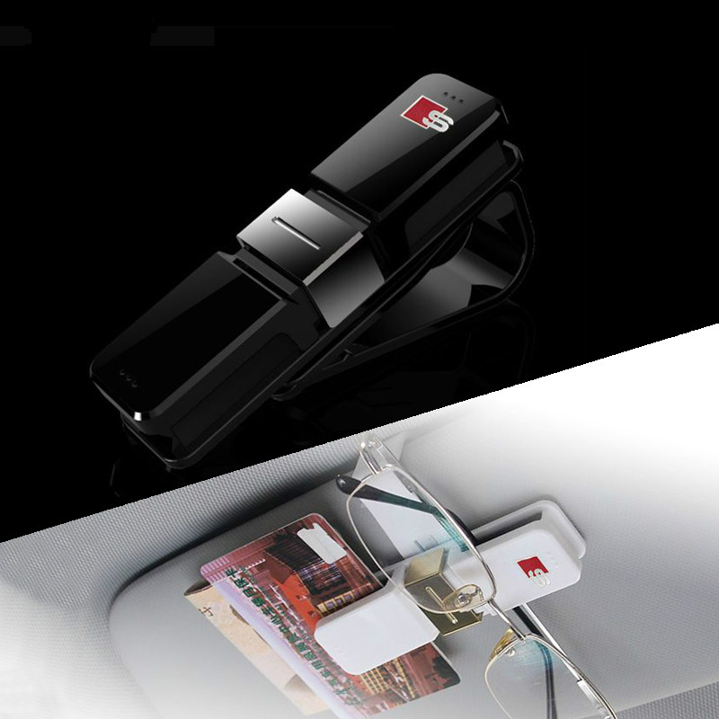 PC Sline Business Card Holder Car Glass Clip Car Sunshade Decoration ...