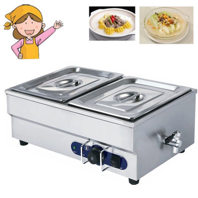 Hot Sale Stainless Steel Bain Marie Table Top Electric Bain Marie Buffet Food Warmer Electric Food Warmer Container